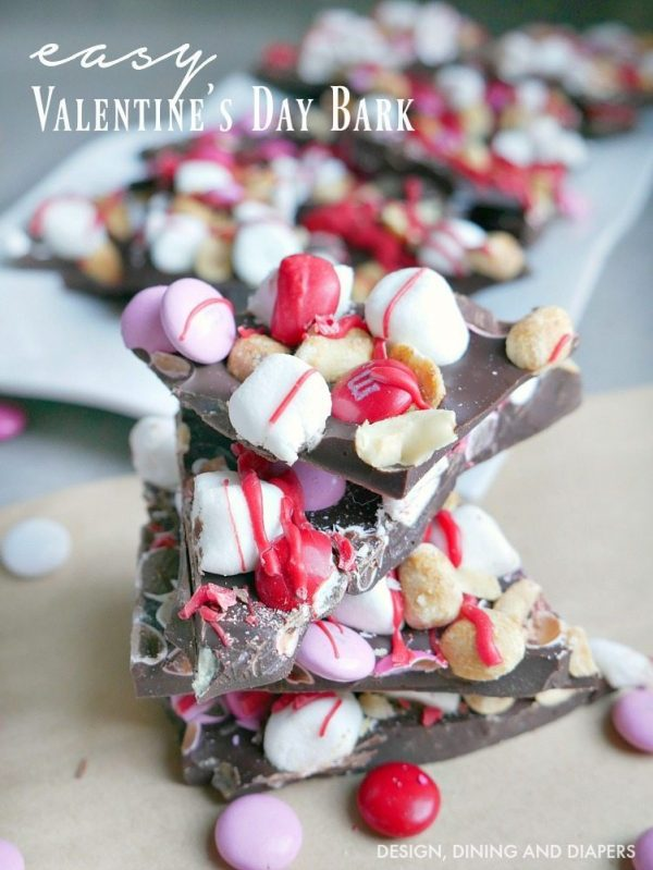 Easy Valentine's Day Bark from Taryn Whiteaker