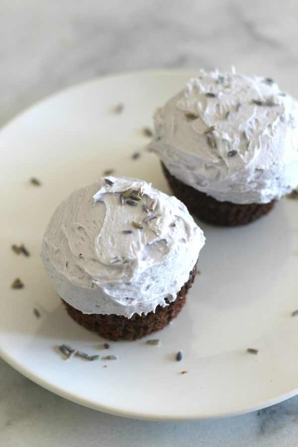 Chocolate Cupcakes with Lavender Buttercream Frosting from Sparkle Living Blog