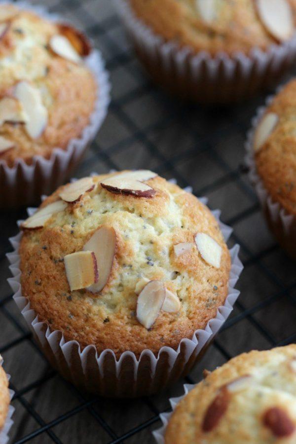 Almond Poppy Seed Muffins from Gluesticks Blog