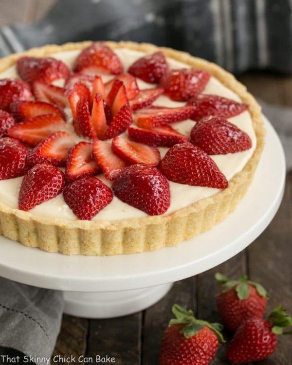Strawberry Lemon Tart from That Skinny Chick Can Bake