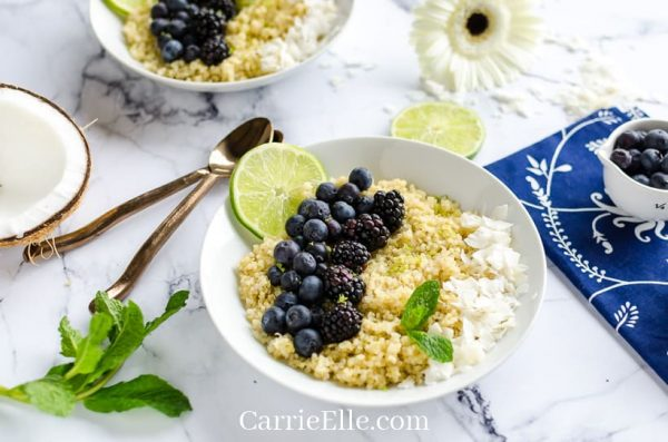 Instant Pot Breakfast Quinoa from Carrie Elle